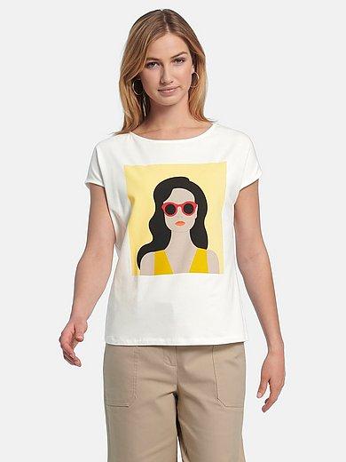 comma, - Shirt met ronde hals