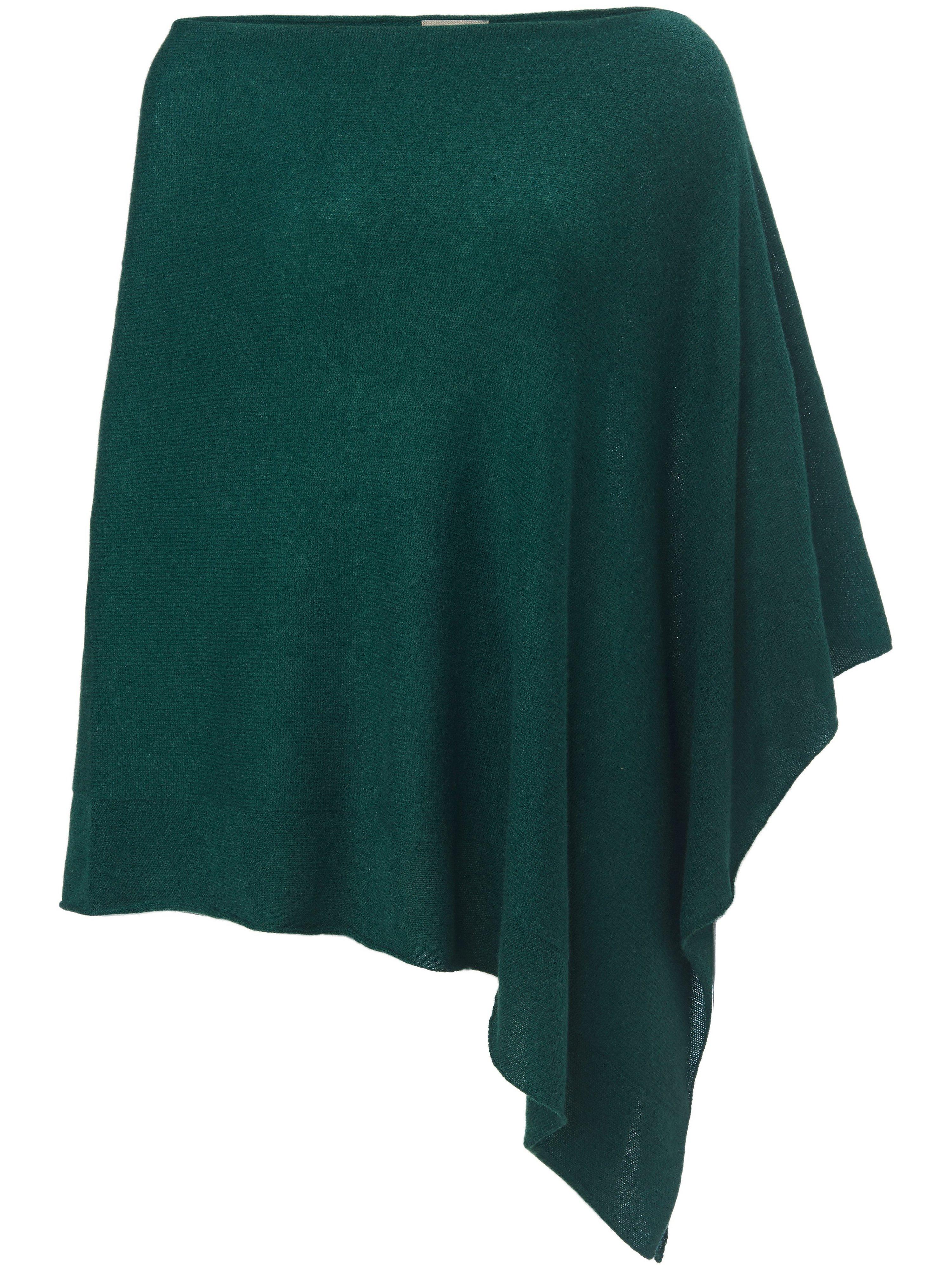 Le poncho 100% cachemire Premium  Peter Hahn Cashmere vert