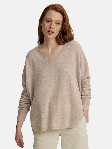 include - V-Pullover aus 100% Premium-Kaschmir