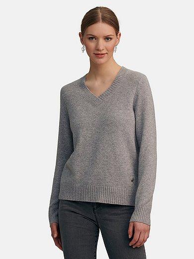 include - V-ringad tröja av 100% kashmir
