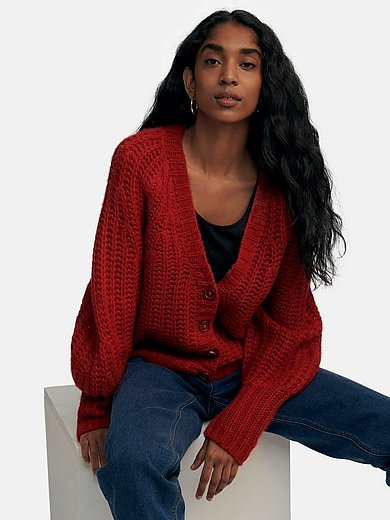 include - Cardigan with deep V-neck