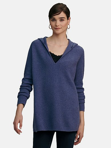 include - Hooded jumper in 100% cashmere