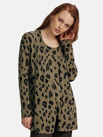 include - Cardigan with elegant leopard skin print
