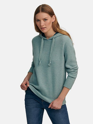 FLUFFY EARS - Jumper in milled wool and cashmere