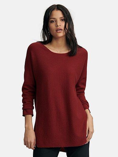 include - Round neck jumper in 100% cashmere.