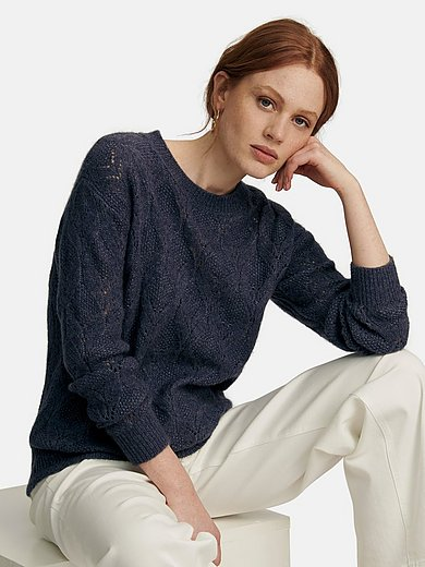 include - Round neck jumper made of silk and cashmere