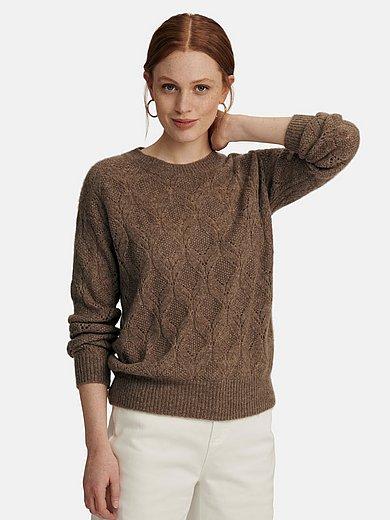 include - Rundhals-Pullover aus Seide und Kaschmir