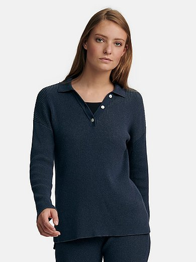 Peter Hahn - Polo jumper with long sleeves