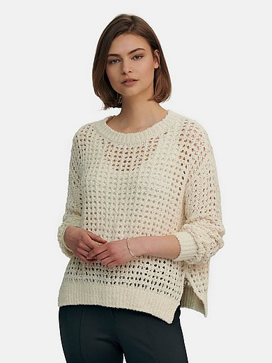 Riani - Round neck jumper with perforations