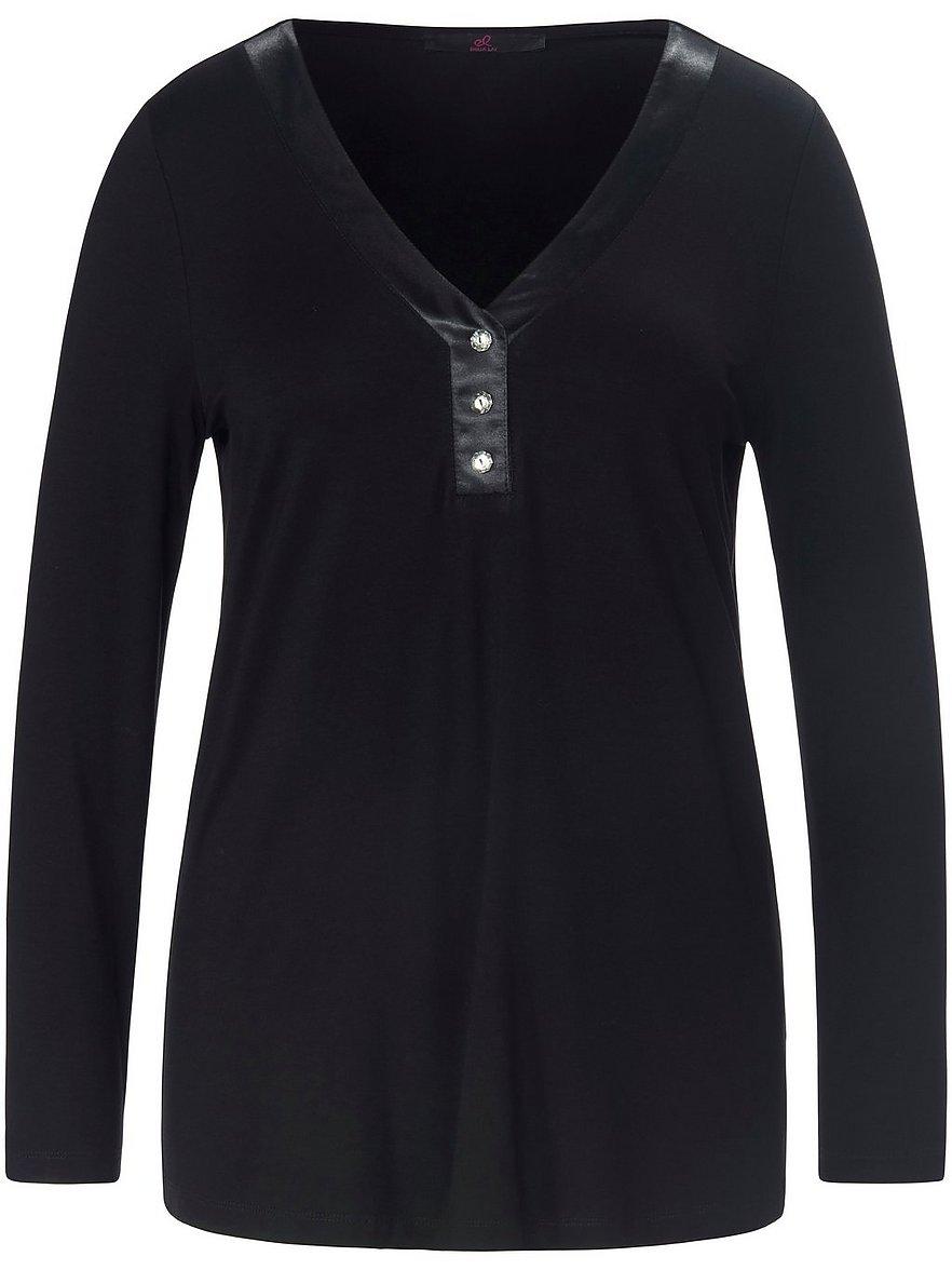 emilia lay - V-Shirt  schwarz Größe: 40
