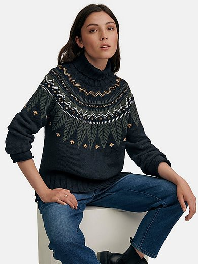Barbour - Roll-neck jumper with an pretty Norwegian pattern