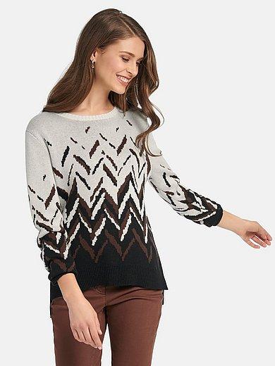 Basler - Round neck jumper with graphic pattern