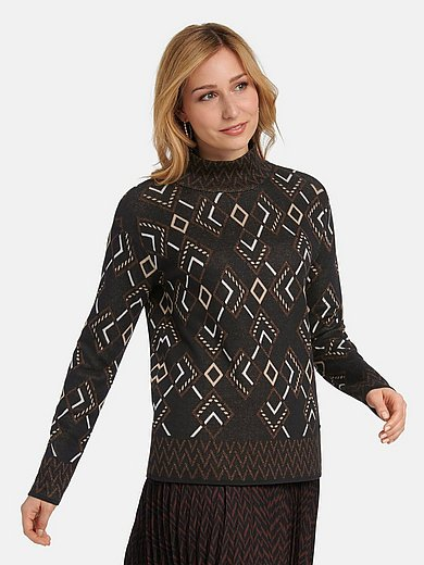 Basler - Jumper with graphic jacquard pattern