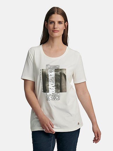 Samoon - Round neck top with short sleeves