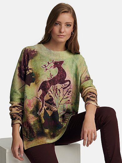 Candygarden - Round neck jumper in wool and cashmere mix