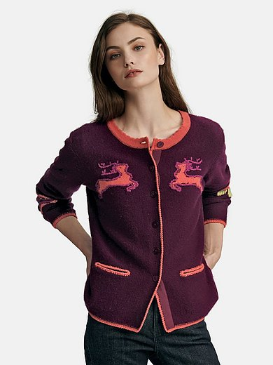 Candygarden - Cardigan in wool and cashmere mix