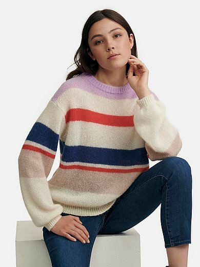 MAERZ Muenchen - Round neck jumper with long gigot sleeves