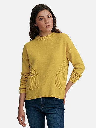 oui - Round neck jumper in wool mix