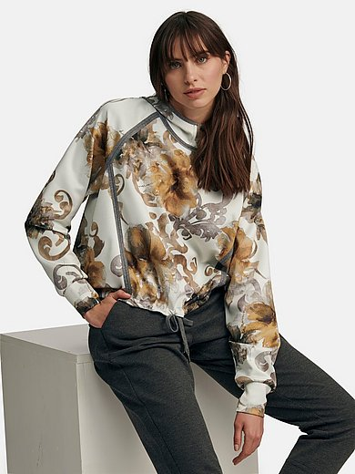 Margittes - Sweatshirt with floral motifs