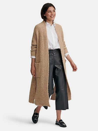 Riani - Knitted coat with drop shoulder and patch pockets