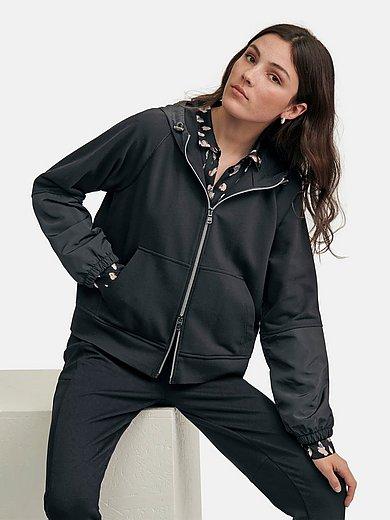 Margittes - Hooded sweat jacket with raglan sleeves