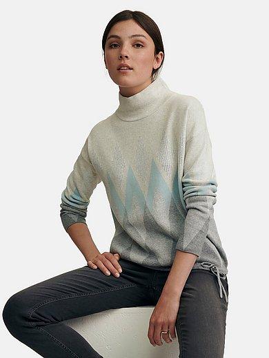 oui - Roll-neck jumper in 100% cotton