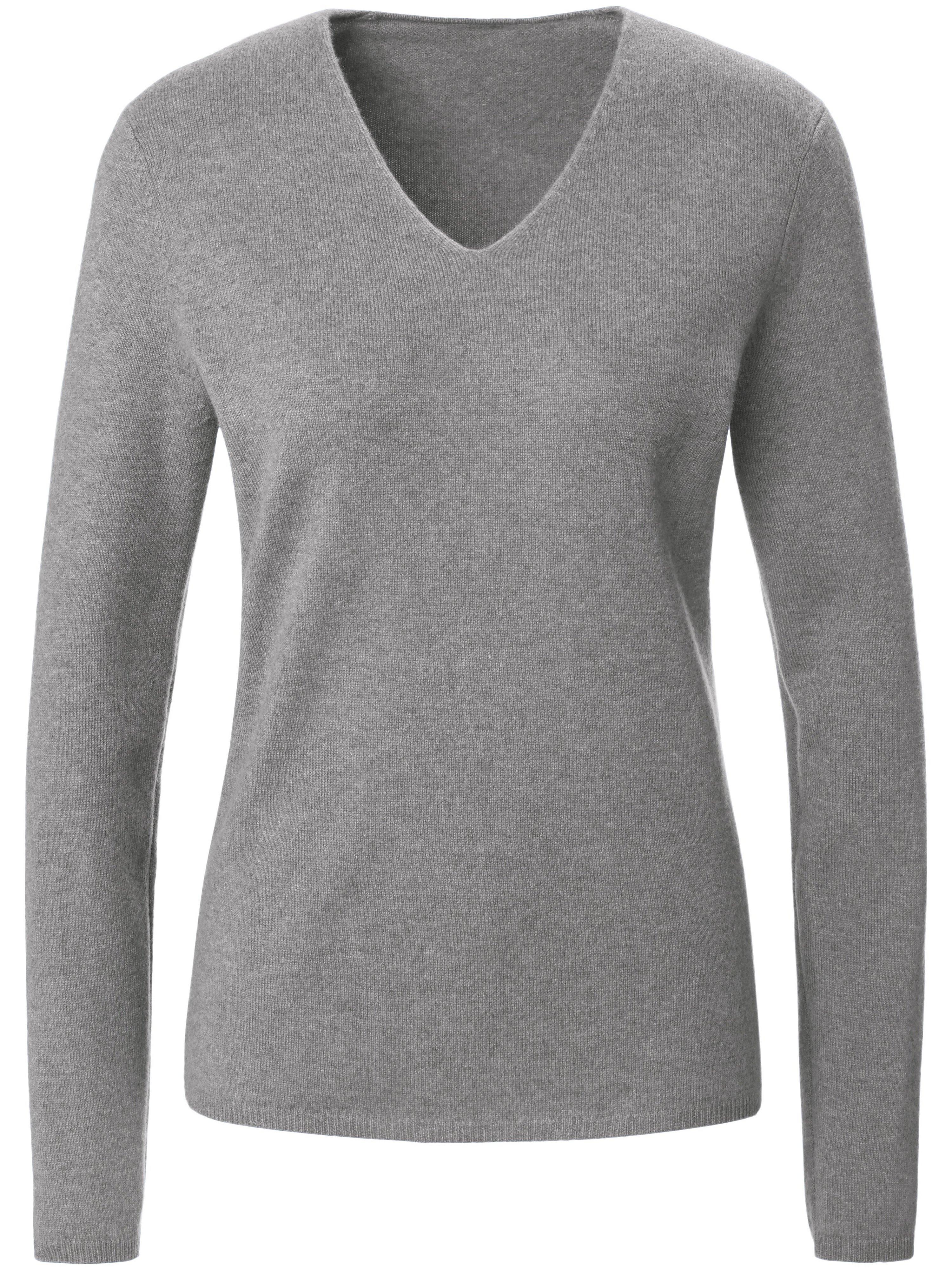 Le pull à encolure en V  include gris