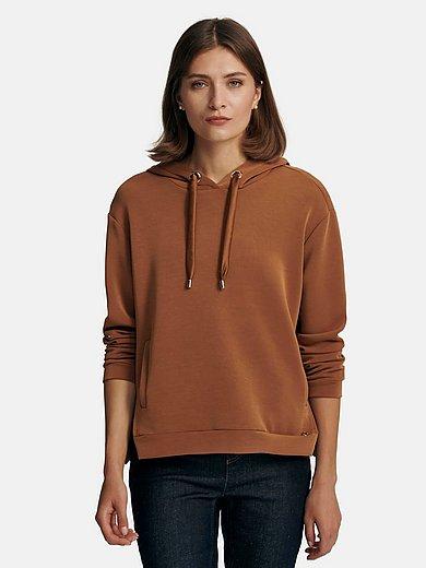 comma, - Hooded sweatshirt with drawstring hood