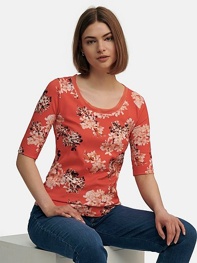 Marc Cain - Round neck top with floral print