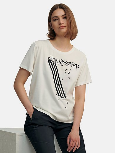 Marc Cain - Round neck top in 100% cotton