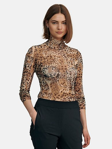 Marc Cain - Top with leopard skin print
