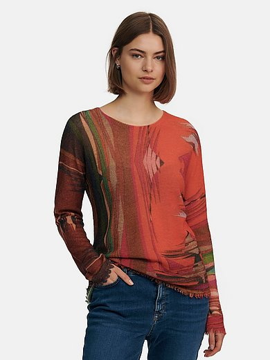 Marc Cain - Round neck jumper in wool mix