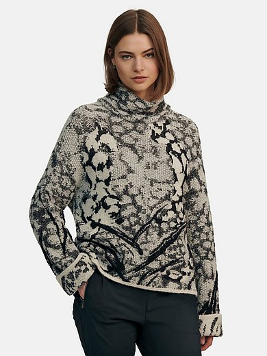 Marc Cain - Jumper with stand-up collar