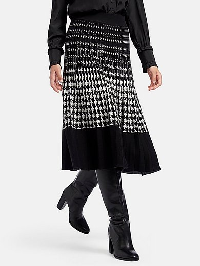 mayfair by Peter Hahn - Knitted skirt with jacquard patterns
