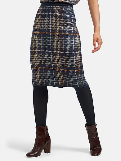 mayfair by Peter Hahn - Knitted skirt with back split