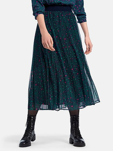 Looxent - Plisseret nederdel med leopardprint