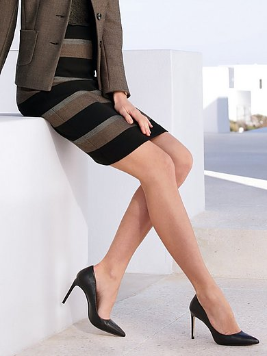 Peter Hahn - Skirt with block stripes