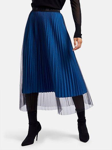 Riani - Plisserad kjol med logoresårlinning