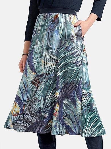 Basler - Nederdel med ensfarvet velour-elastik i linningen