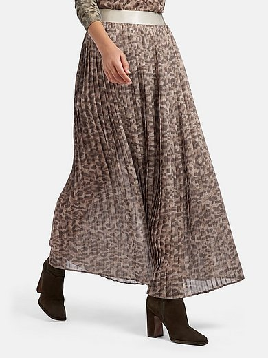 Sportalm Kitzbühel - Pleated skirt with leopard skin print
