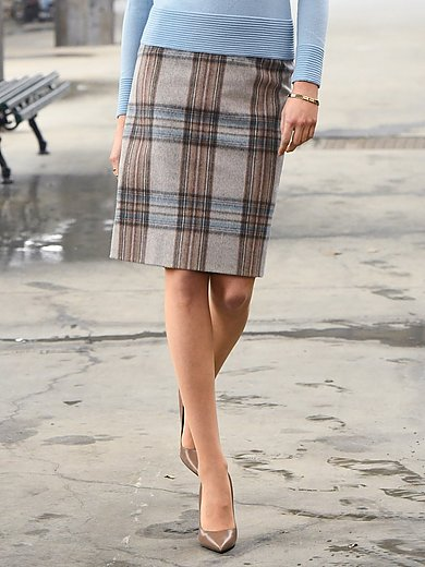 Peter Hahn - Skirt with check pattern