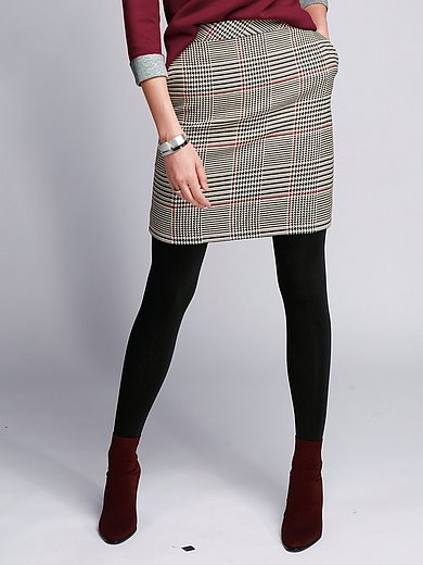 comma, - Skirt with houndstooth check pattern