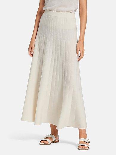 include - Stickad kjol av 100% kashmir