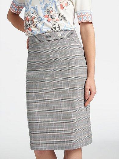 Basler - Kjol med diagonalt mönster