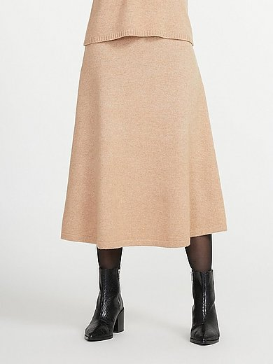 include - Knitted skirt in new milled wool and cashmere