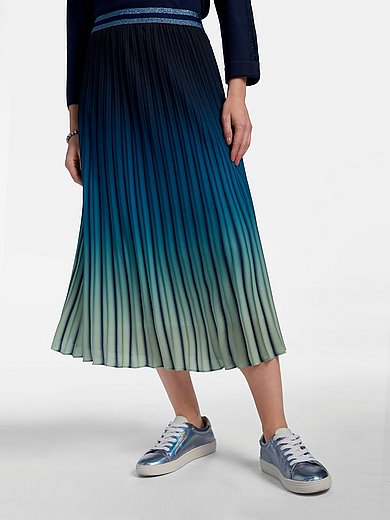Basler - Pleated skirt in pull-on style