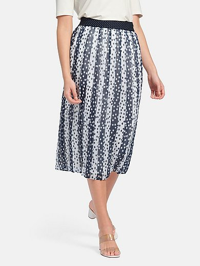 Basler - La jupe plissée à ceinture élastiquée