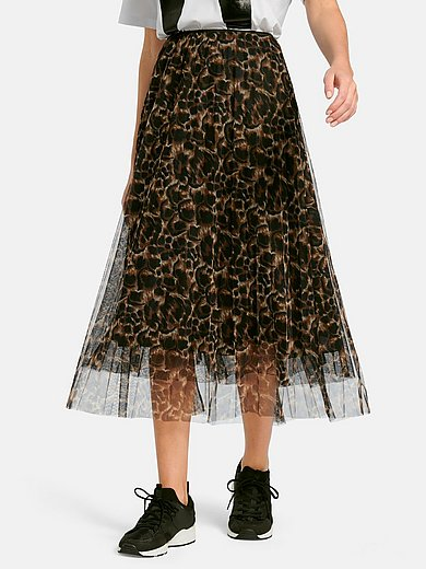 Margittes - Mesh skirt with animal print