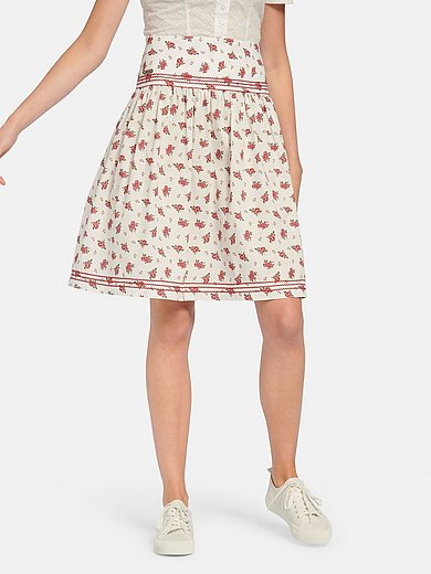 Hammerschmid - Skirt with rose print in 100% cotton