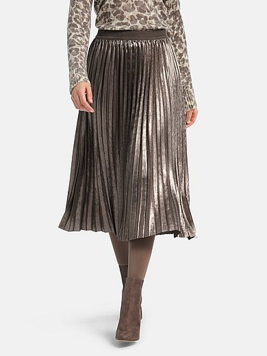 Basler - Pleated maxi skirt with lining